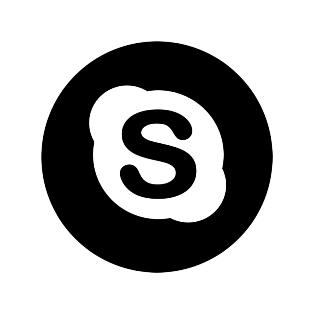 Skype Icon Png Black 8 Png Image