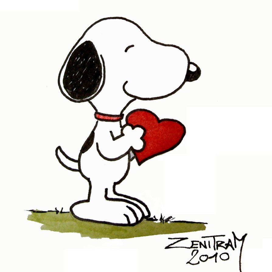 snoopy love png 4