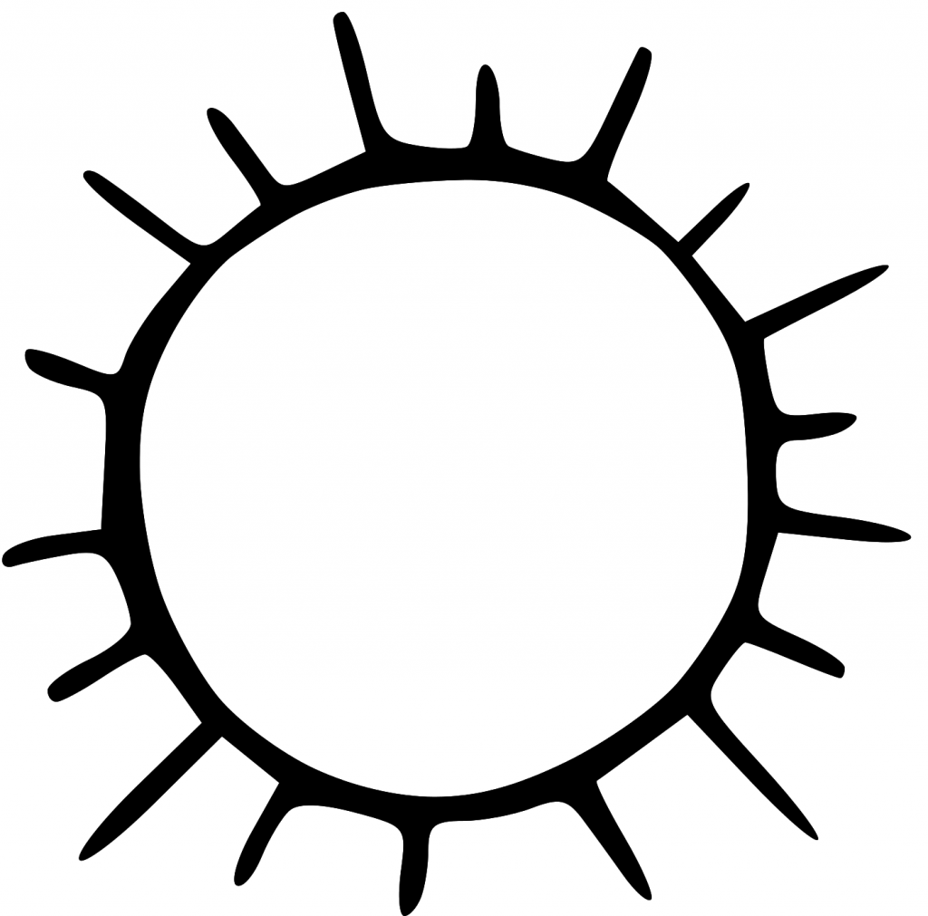 Sun Clipart Black And White Png 7 Png Image