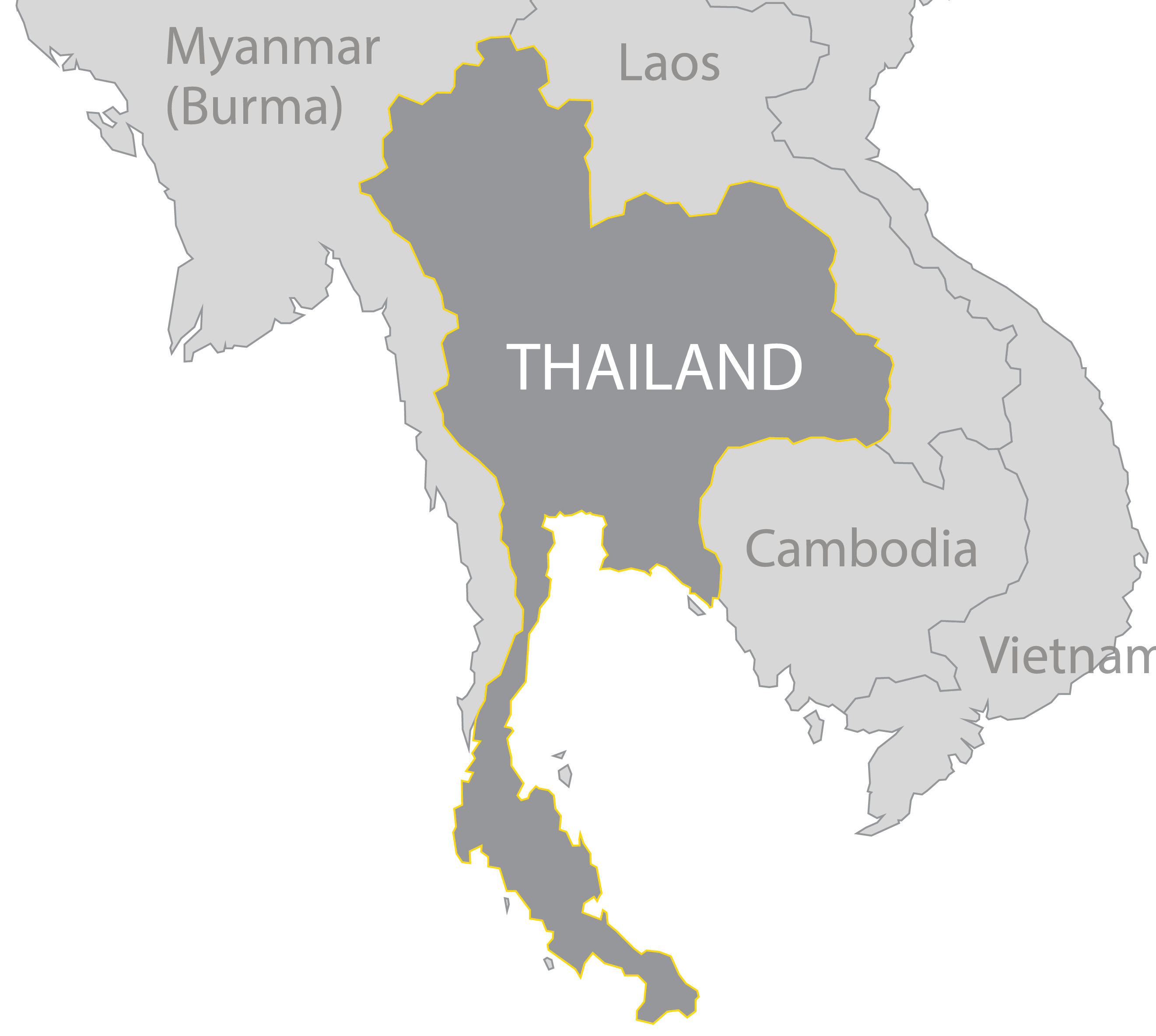 Thailand Map Png 11 Png Image