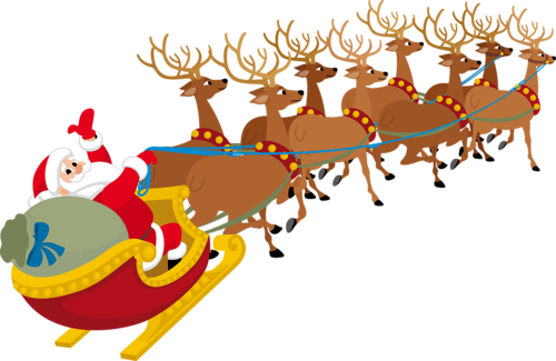 Traineau Pere Noel Png 1 Png Image