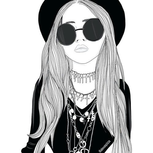 Tumblr png hipster girl 1 » PNG Image