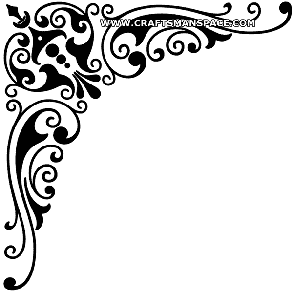 Vector Corner Design Black And White Png 3 Png Image
