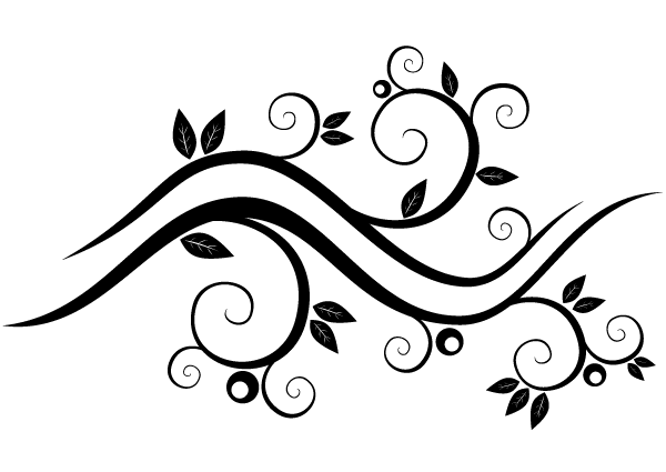 Vector Design Black And White Floral Png 2 Png Image