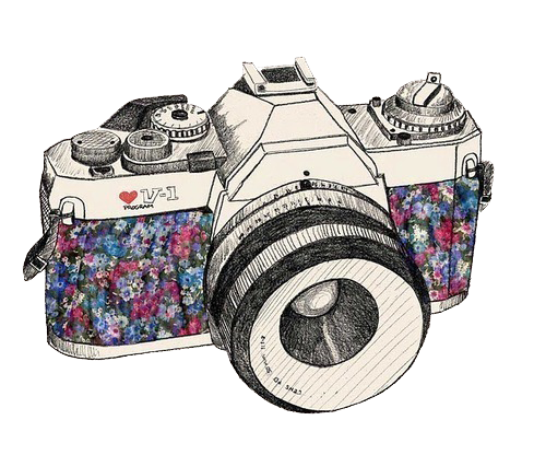 Camera Vintage Tumblr : Vintage camera drawing tumblr png png image