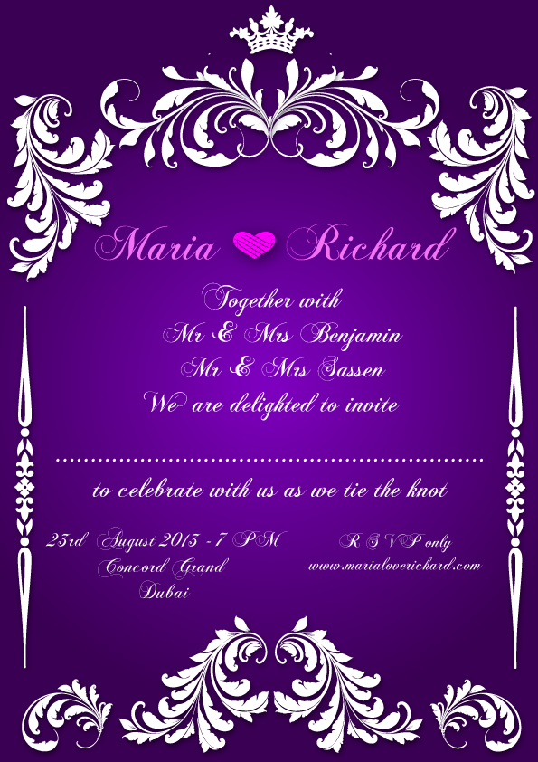 Wedding Invitation Card Design Png 2 Png Image