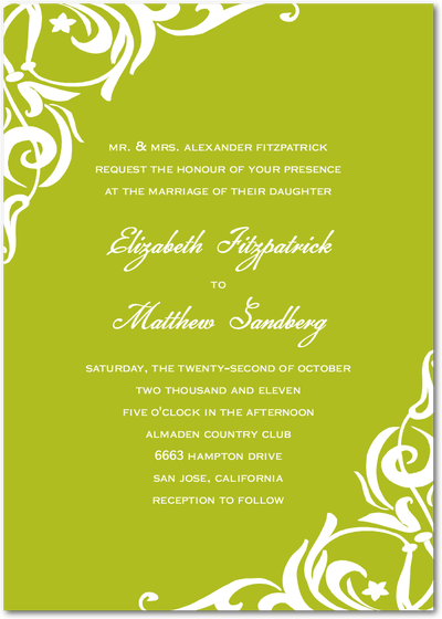 Wedding Invitation Green Background Png Png Image