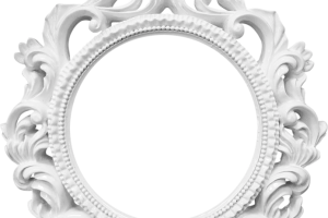 white oval frame png 1