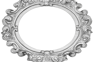 white oval frame png 2