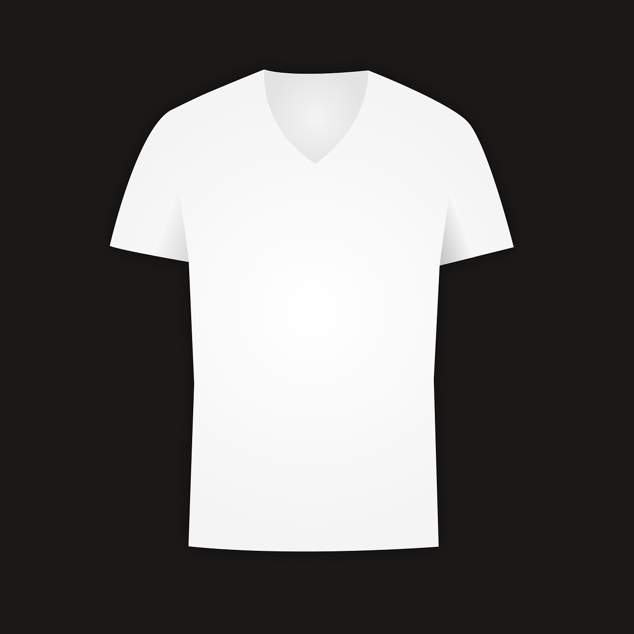 white v neck t shirt template png png image