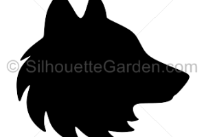 wolf head silhouette png 1