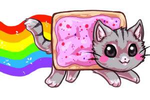 nyan cat rainbow png 1