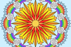 rainbow coloring page png 2