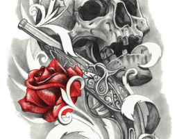 rose tattoo png 1