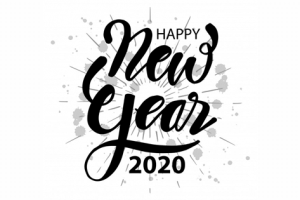 happy new year 2020 name png 8