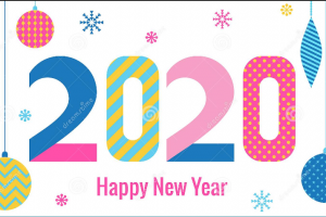 new year card png 2020