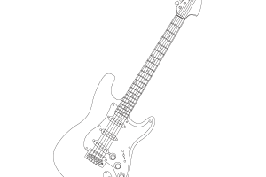guitar clip art black and white png