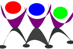 colorful party people silhouette png 1