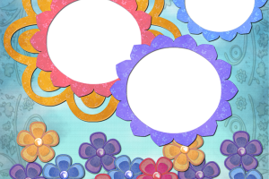 frame template pink png 1