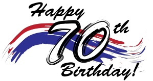 70th birthday png